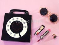 Funny Clock Design Acrylic Bag Long Chain  Fashion Women