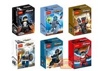 Decool 6pcs Super Heroes Avengers Bricks figures TASKMASTER RED SKULL Action Figures Minifigures Building Blocks toys