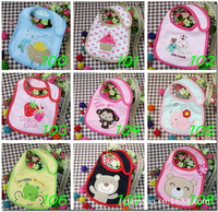 Free shipping hotsale cotton baby bibs Infant Saliva Towels waterproof bibs 10pcs/lot With Different Model