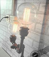 Luxury Vintage Desk Tble Lamp Light Iron DIY Handmade Loft industrial For Cafe Bar Study E27 Robot  2 Bulbs