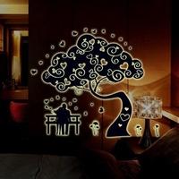 1 set/lot New arrival 2014 romanric love tree creative luminous wall stickers wedding room sticker light wallpaper free shipping