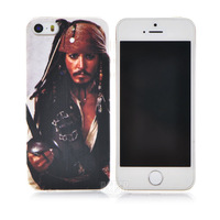 2014 New Style Hot 3D movie Pirates of the Caribbean Jack captain mobile phone case  for iphone 5 5S