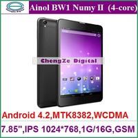 "New Arrival 7.85"" Original Ainol BW1 II Numy Hongnuomi II MTK8382 Quad Core 3G Phone Call Tablet PC 1GB Ram 16GB Bluetooth GPS"