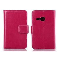 100pcs/lot Free Shipping Money Clip Book Stand Leather Case With 2 Credit Card Slots For Samsung Galaxy Young S6310
