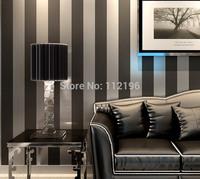 10 Meter Modern Vertical Striped Wallpaper Roll papel de parede Non Woven Living Room Bedroom Wall Paper Glitter Tapete Murals