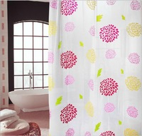 Sunflower Petals Thick Waterproof Mouldproof PEVA Shower Curtain with 12 Curtain Rings 804