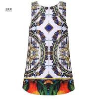 WL-MONSOON 2014 new brand girls print dress, european style children princess dress, designer kids girls' dresses, 2-12Y