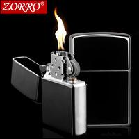 Authentic Hongkong Zorro Zorro kerosene lighter black ice blue ice personality advertising gold lighter
