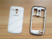 New Original White Middle Plate Housing Frame+ Back Cover For Samsung Galaxy Trend S7560 Phone