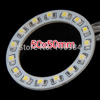 2PCS x  Car Led  Headlight 50mm 3528 15-SMD Angel Eyes Halo Ring Light , White/Blue/Yellow/Green/Red