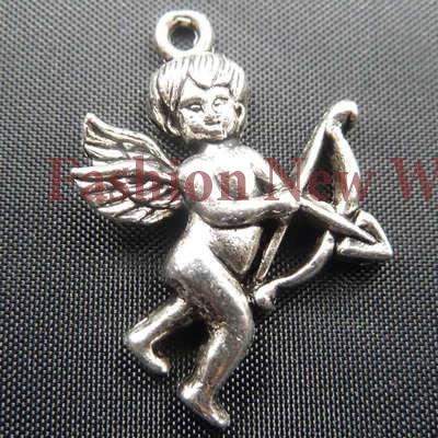Free shiping Wholesale 165pcs Cupid shape silver Metal Pendant fashion charms T2194