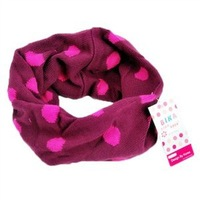 Free shipping Korean children colorful dot scarf / winter boys and girls wool scarf / winter classic children