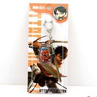 free shipping japan anime  Shingeki no Kyojin keychain keyring phone strap (10pcs lot) b2617