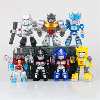 Free Shipping Color Box Packing 12cm Transformation Q Version PVC Collectible Figure Toys Doll Gifts For Chirdren
