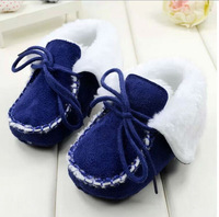 Free shipping New baby boys/girls Navy  christmas  fashion snow boots infant winter Toddler shoes