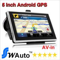 5 inch tablet MID gps navigator Android GPS Navigation Allwinner A13 AV IN 1.2G 512MB 8G FM WIFI 5007