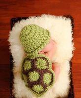 NEW Cute Turtle Toddler Boy Girl Baby Beanie Newborn Costume Photo Photography Props Knit Crochet Handmade