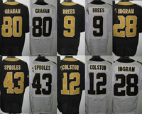 Cheap Football Jerseys,9.BREES 12.COLSTON 43.SPROLES 28.INGRAM 80.GRAHAM men elite Jerseys wholesale  free shipping