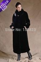 Fur Coats Special Offer Women Offer X-long Full Button 2014 New Women's Clothing Imitation Mink Overcoat Rex Rabbit Design Coat