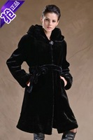 Fur Coats Time-limited Solid Coats 2014 High Quality Women's Clothing Winter Imitation Mink Overcoat Fashion Plus Size Outerwear