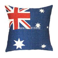1pcs Wholesale 45CM x 45CM Linen Cotton Polyester US Flag Stars Bed Couch Cushion Cover Home Decor Decoration Pillow Case #1