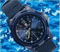 Universal canvas belt fashion men watches luminous hands sports  Army watches waterproof male favor watch