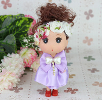 HOT sale12pcs/lot light purple Pretty confused doll ,Christmas gifts,cartoon doll bouquet packaging,Free shipping