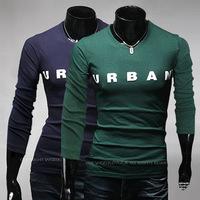 2014 New Urban Letters Long Sleeve T-shirt Men's Fashion Casual T Shirt  Wild ,Men's Sportswear  TX238