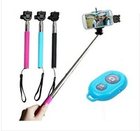 Selfie Rotary Extendable Handheld Monopod+Clip+ Bluetooth Shutter For Phone Camera,Free Shipping
