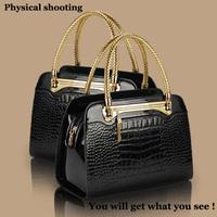 Free shipping ! 2014 New Fashion women handbag lady hand bags crocodile leather pattern shoulder bag