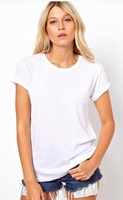 2014Summer wear the new laser chase back empty angel wings round collar short sleeve T-shir#9*99