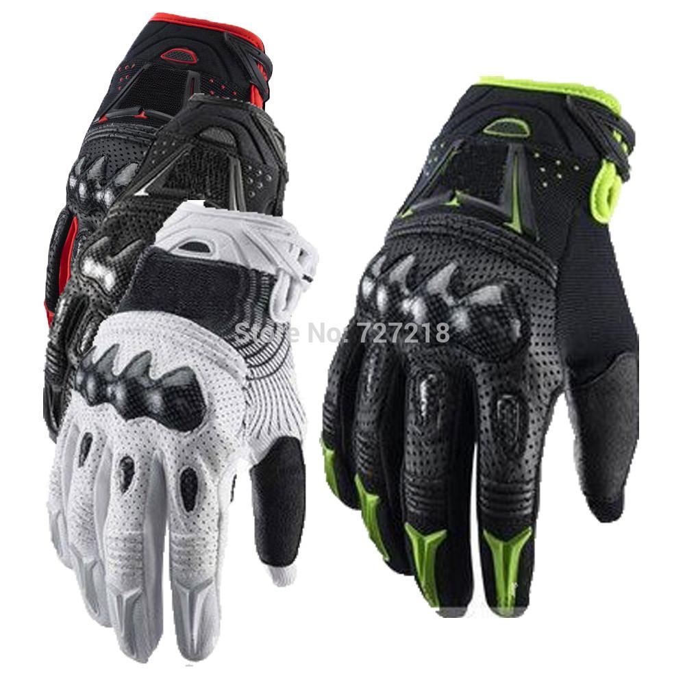 Nouveau 2014 modelmoto guantes luvas para moto gp pro en fibre de carbone en cuir bombardier renard gants, motocross, motorbikeglove hors route