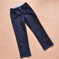 2014 Fall Hot Sell Original Brand Boy's Corduroy Material Classic Denim-like Pants for Children 7-8 Years Old