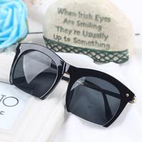 Ive vintage sunglasses box cat-eye metal sunglasses all-match large sunglasses glasses