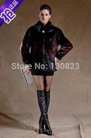 Fur Coats Long Full Women Coats Rushed Hot Sale 2014 Women's Clothing Ramp Medium-long Imitation Mink Overcoat Rex Rabbit Coat
