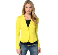Hot selling women's small suit, a grain of buckle cardigan suit women candy color coat