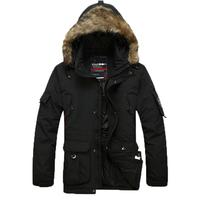 2014 Brand Plus size Fur hooded warm jacket  S/-6XL  men down Jacket Duck  Down Parkas  fur hooded men's down parkas warm jacket