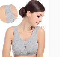 100% Cotton wireless bra one piece sports seamless yoga adjustable 2014 hot sale sleeping underwear bra wholesale