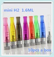 10 pcs a boxElectronic cigarette 1.6ml mini H2 Atomizer ego vaporizer H2 rebuildable clearomizer e-cig ce4 cartomizer