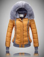 2014 Women winter Jacket M/L/XL/XXL 5 Colors down cotton winter wear female Warm overcoat Free Shipping