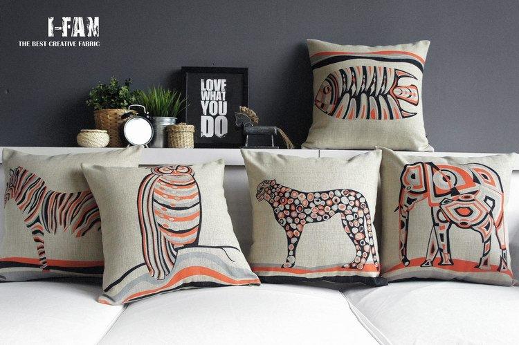 5PCS Zebra E Series Elefantes de animais fronha criativa minimalista serapilheira capa de almofada dos desenhos animados de alta qualidade Coxim(China (Mainland))
