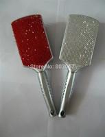 2014 Hot Free shipping(6pcs/lot) Wholesale Fashion 100% handmade red diamante hair comb