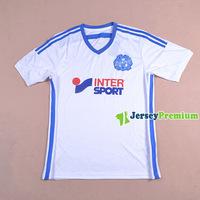 OLYMPIQUE DE MARSEILLE HOME White 2014-2015 Soccer jersey football kits Shirts Uniform