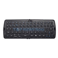 T2N2 Wireless Foldable Bluetooth Keyboard For Laptop Tablet Smartphone Black