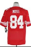 Cheap football jerseys NEW San Francisco  84 Randy Moss jerseys free shipping