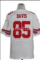 FREE SHIPPING Cheap football jerseys San Francisco  85 Vernon Davis football Jerseys