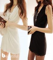 2014 new nightclub sexy ladies temperament Slim thin package hip fashion chiffon dress free shipping