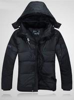 2014 new RLX100% duck down jacket outdoor sport coat Sportswear Hoodie Jacket waterproof windproof casual medium-long Thickening