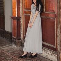 wholesale 2014 women vintage elegant Swing hem chiffon  dress