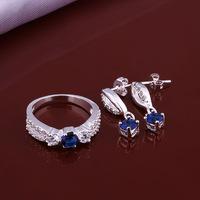 wholesale 925 silver jewelry set Promotion,The Lowest price! New arrival High quality gifts Free shipping earrings + ring ,S640